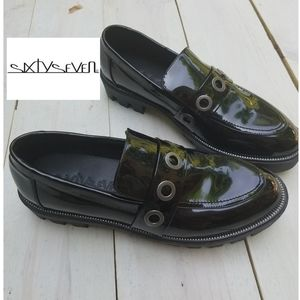 NWT sixtyseven patent leather loafers